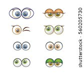set of vector eyes | Shutterstock .eps vector #560205730