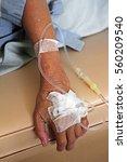 old patient hand drip receiving ... | Shutterstock . vector #560209540