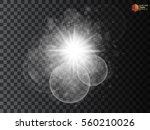 white glowing light burst... | Shutterstock .eps vector #560210026