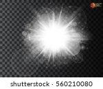 white glowing light burst... | Shutterstock .eps vector #560210080
