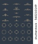 vintage decor elements and...   Shutterstock .eps vector #560210149