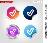 colored icon or button of check ... | Shutterstock .eps vector #560215258