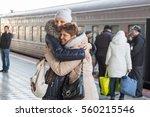 adult daughter met my mother at ... | Shutterstock . vector #560215546