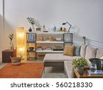 beautiful and large living room ... | Shutterstock . vector #560218330