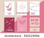 happy valentine day postcard... | Shutterstock .eps vector #560224006