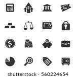finance vector icons for user... | Shutterstock .eps vector #560224654