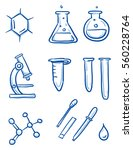 set of different laboratory and ... | Shutterstock .eps vector #560228764