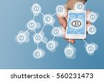 bitcoin icon displayed on... | Shutterstock . vector #560231473