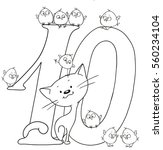 number ten. cute cartoon... | Shutterstock .eps vector #560234104