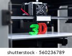 white 3d printing piece | Shutterstock . vector #560236789