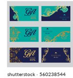 set of vector thai card... | Shutterstock .eps vector #560238544
