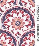 hand drawn mandala seamless... | Shutterstock .eps vector #560240224