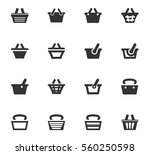 basket vector icons for user... | Shutterstock .eps vector #560250598