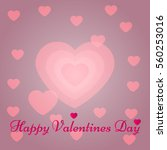 happy valentines day card.... | Shutterstock .eps vector #560253016