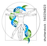 Dna Vitruvian Man Medical...