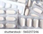 medical and vitamin pills.... | Shutterstock . vector #560257246