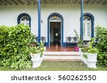 Small photo of Entrance of an African country house