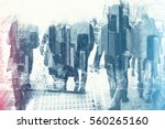 abstract image of business... | Shutterstock . vector #560265160