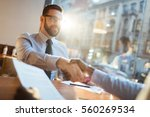 confident bearded businessman... | Shutterstock . vector #560269534