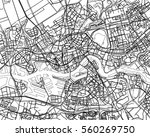 black   white map of rotterdam  ... | Shutterstock . vector #560269750