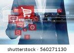 online shopping concept of... | Shutterstock . vector #560271130