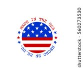 vector made in usa stamp with... | Shutterstock .eps vector #560273530