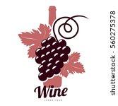 wine logo templates. bottle ... | Shutterstock .eps vector #560275378