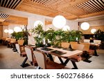 Asian Restaurant Interior With ...
