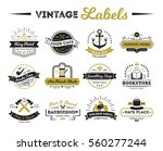 vintage labels of hotel shops... | Shutterstock .eps vector #560277244