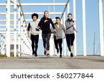 outdoor portrait of group of... | Shutterstock . vector #560277844