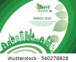 ecology connection  concept... | Shutterstock .eps vector #560278828