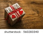 gift box with date of happy... | Shutterstock . vector #560283340