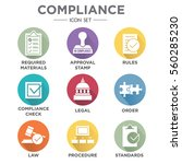 in compliance   icon set that... | Shutterstock .eps vector #560285230