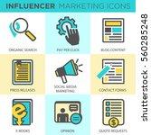 influencer marketing icon set... | Shutterstock .eps vector #560285248