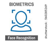 biometric scanning facial... | Shutterstock .eps vector #560285269