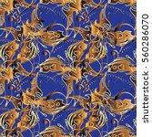 ornate seamless pattern...   Shutterstock .eps vector #560286070