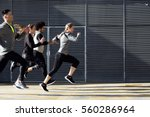 outdoor portrait of group of... | Shutterstock . vector #560286964