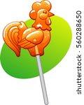 rooster lollipop | Shutterstock .eps vector #560288650