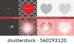 cute greeting cards  expressing ... | Shutterstock .eps vector #560293120