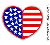 Patriotic Heart Symbol With An...