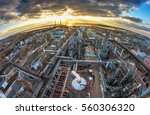 big chemical factory. aerial... | Shutterstock . vector #560306320