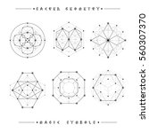 sacred geometry signs. set of... | Shutterstock .eps vector #560307370