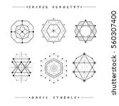 sacred geometry signs. set of... | Shutterstock .eps vector #560307400