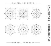 sacred geometry signs. set of... | Shutterstock .eps vector #560307424