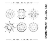 sacred geometry signs. set of... | Shutterstock .eps vector #560307430