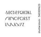 vector linear font   simple... | Shutterstock .eps vector #560309623