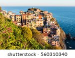 small town by the italian... | Shutterstock . vector #560310340