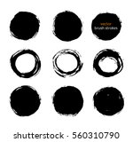 color vector brush strokes... | Shutterstock .eps vector #560310790