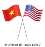 vietnamese and american crossed ... | Shutterstock .eps vector #560316490