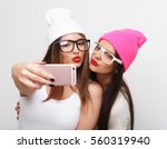 two teenage girls friends in... | Shutterstock . vector #560319940
